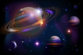 Planets and space.