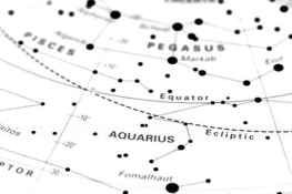 Aquarius star map zodiac. Star sign Aquarius on an astronomy st